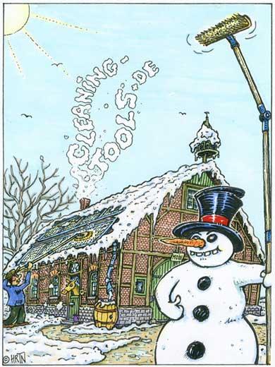 Schnee von Solaranlage entfernen